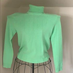 Bright Green 100% Cashmere Sweater
